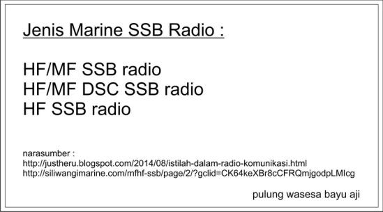 1 jenis marine SSB radio kecil